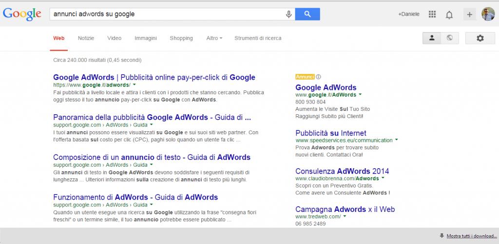 adwords ricerche