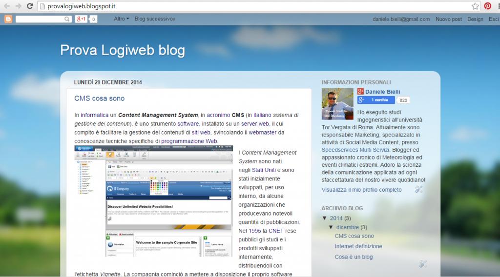 Installare un tema su blogger