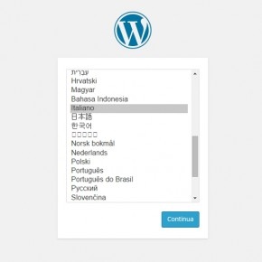 Impostare lingua wordpress