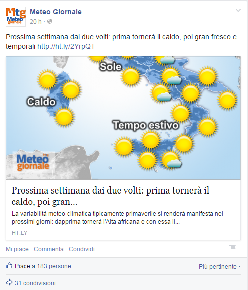 Fan Page meteogiornale