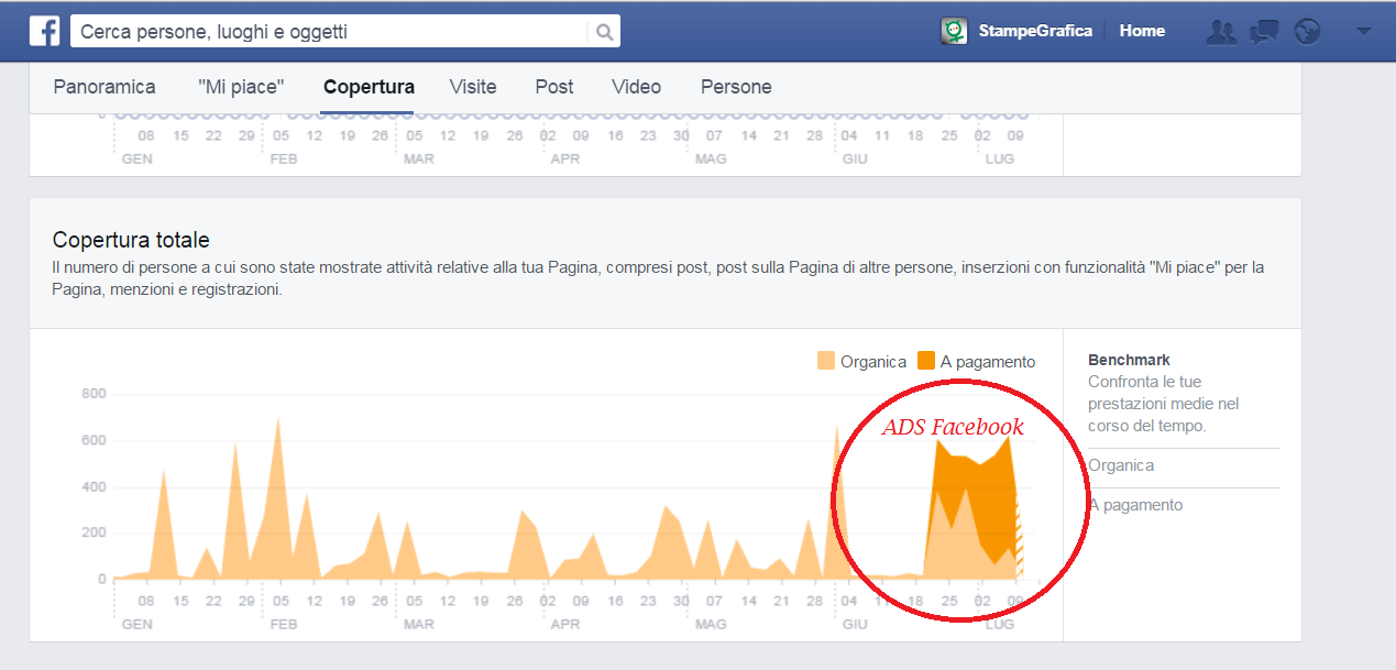 Introduzione ADS Facebook fan page. Analisi copertura media post